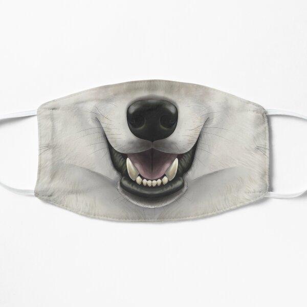 Cara de lobo gris Mascarilla plana