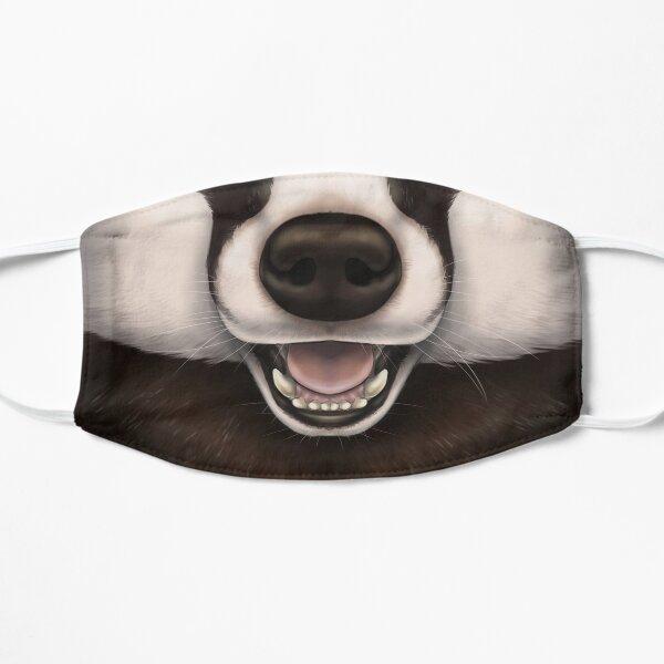 European Badger Face Flat Mask
