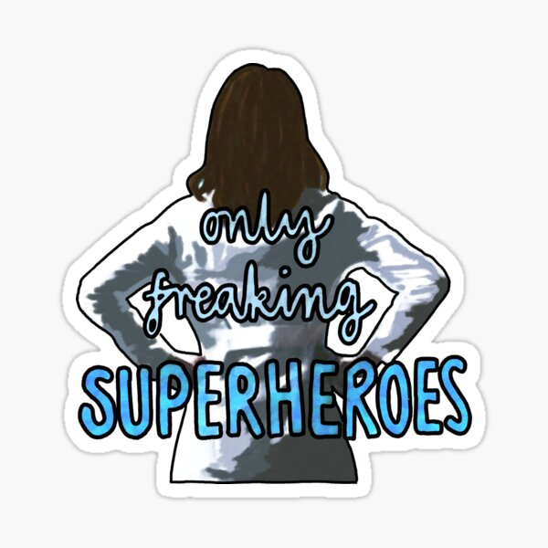 Amelia Shepherd Superheroes Sticker