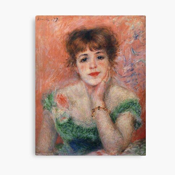 Auguste Renoir - Jeanne Samary (Also Known As La Reverie), 1877 Canvas Print