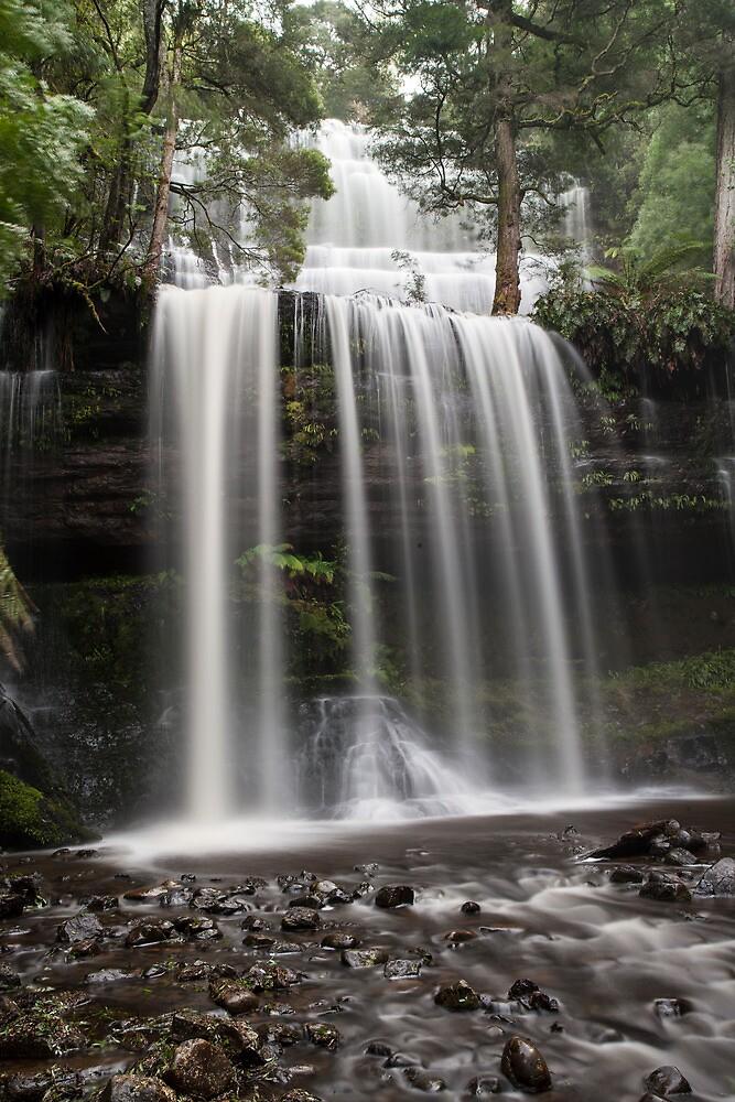 Russell Falls in Winter, Tasmania by David Jamrozik