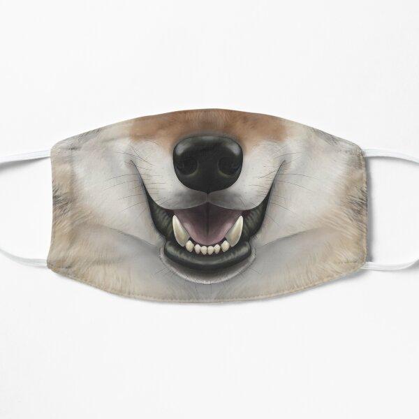 Timber Wolf Face Flat Mask