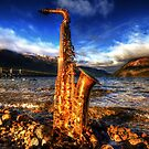 Sax on the Beach by Robyn Carter