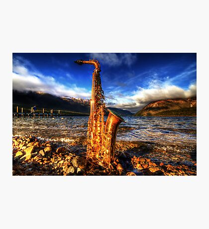 Sax on the Beach Photographic Print