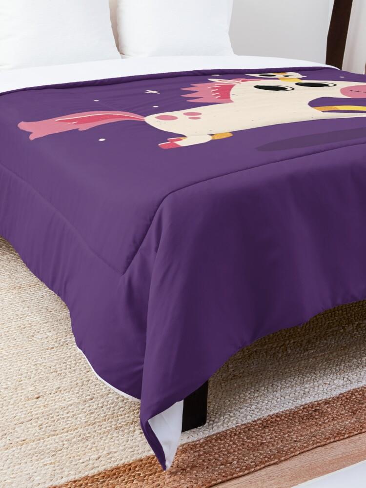 Alternate view of Unicorn Of Death Comforter
