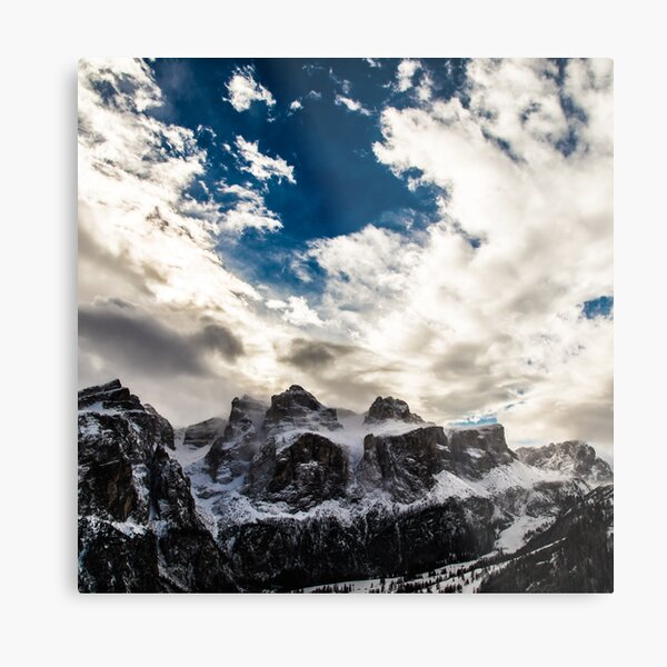Italian Dolomiti ready for ski season Metal Print