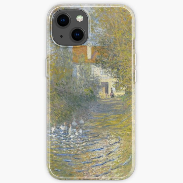 Claude Monet - Geese At The Stream, 1874 iPhone Soft Case