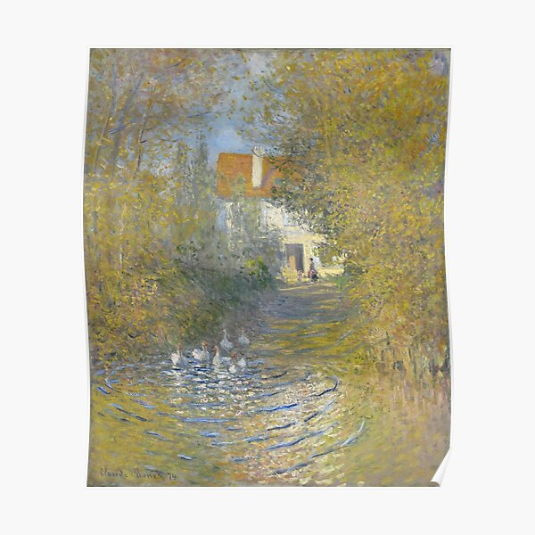 Claude Monet - Geese At The Stream, 1874 Poster