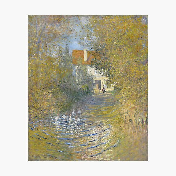 Claude Monet - Geese At The Stream, 1874 Photographic Print