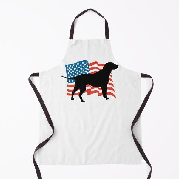 American Flag Labrador Lab Puppy Dog Gift design Apron