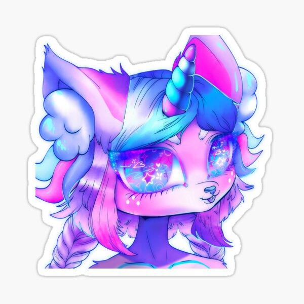Cleo the Unicorn Kitten Sticker