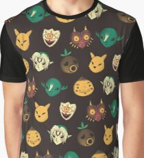 pattern of masks Graphic T-Shirt