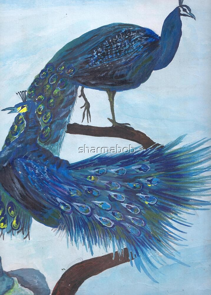 Peacocks by sharmabob
