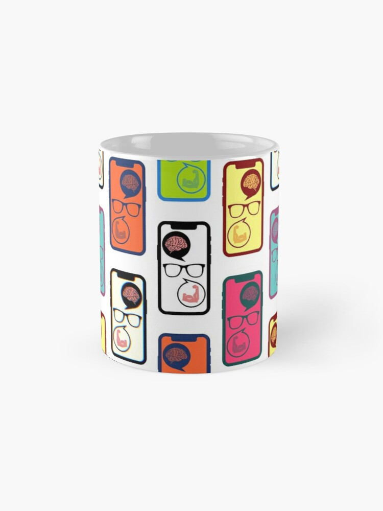 Alternate view of Fitness Geek Pop Art Mug