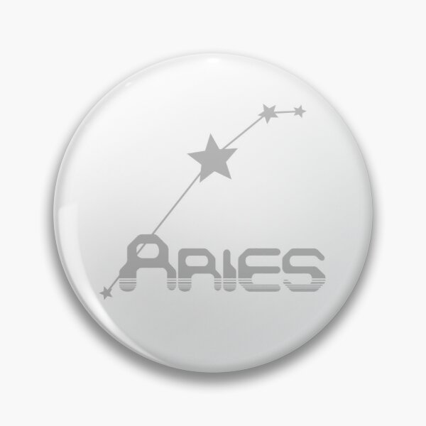 Retro Constellations: Aries -- Gray Pin