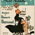 MISS MILLION  (vintage illustration) by ART INSPIRED BY MUSIC