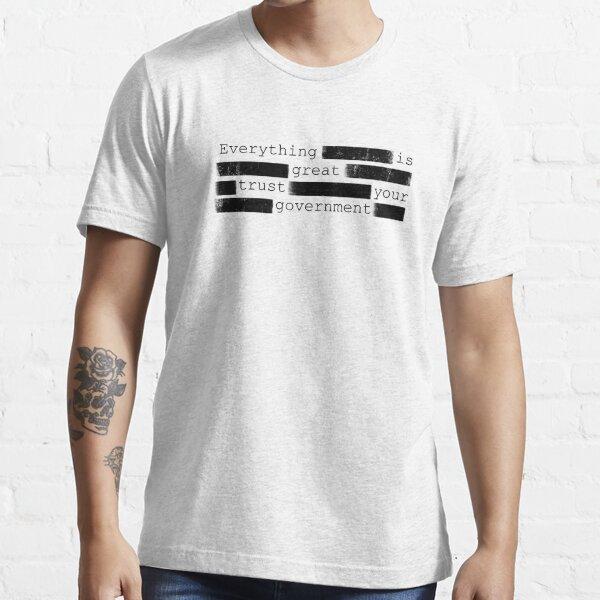 Anti Censorship Government Libertarian Free Speech Essential T-Shirt