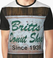 Britt's Donut Shop Sign 1 Graphic T-Shirt