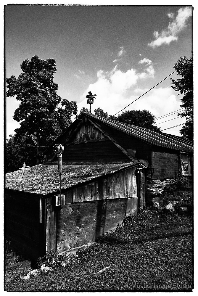 Roger's Old Shop- B&W by OntheroadImage