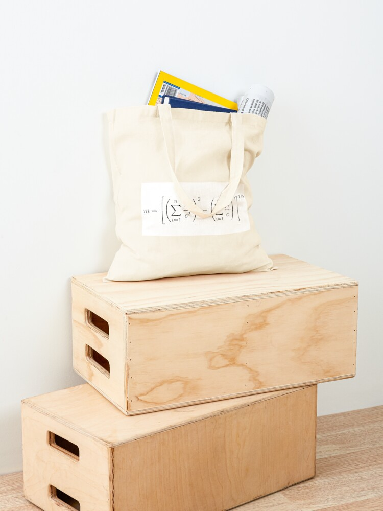 Alternate view of MASS OF THE PARTICLE SYSTEM Tote Bag