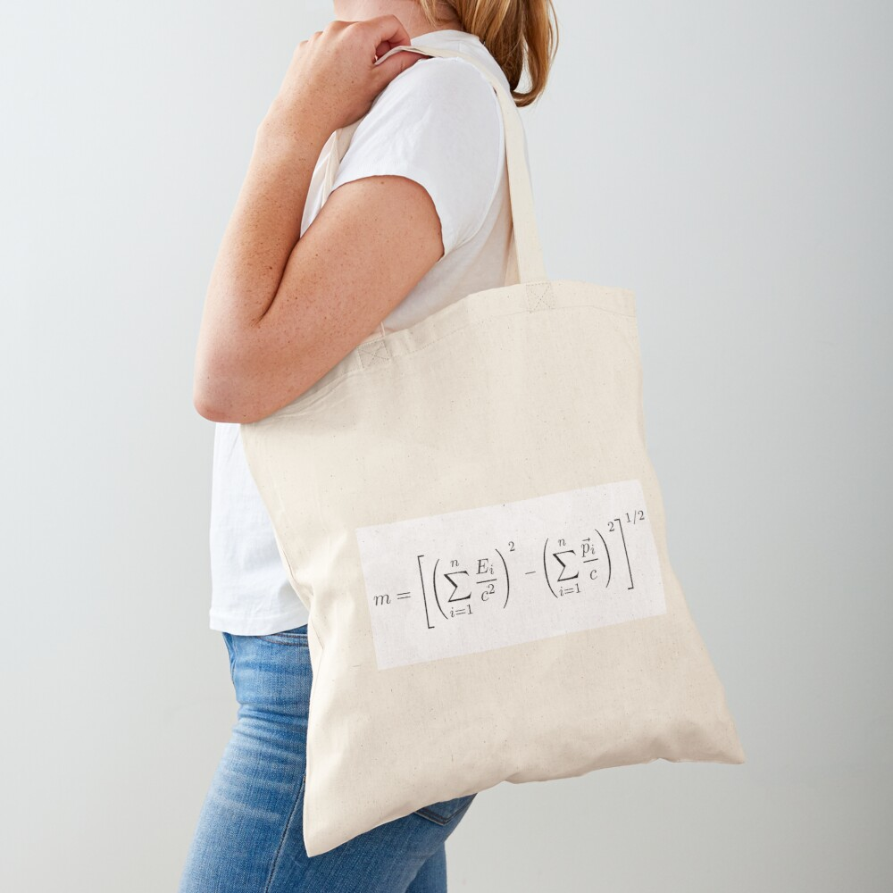 MASS OF THE PARTICLE SYSTEM Tote Bag