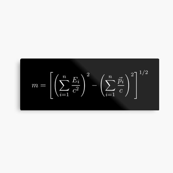 MASS OF THE PARTICLE SYSTEM Metal Print