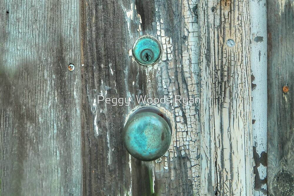 Detail, Old Door by Peggy  Woods Ryan