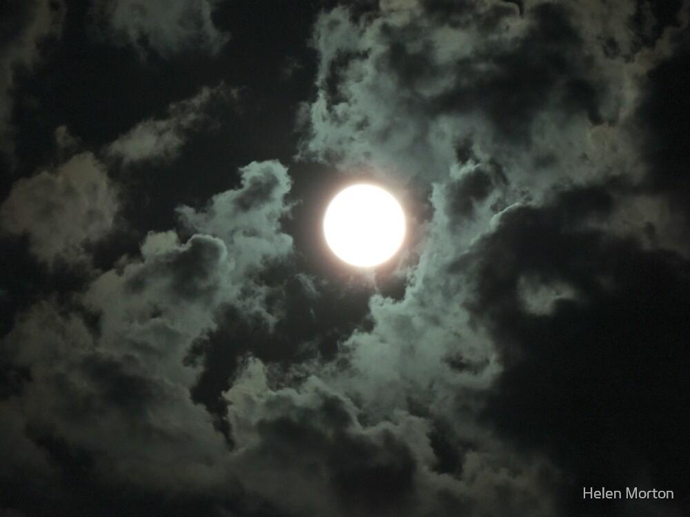 Moon over Wiltshire by Helen Morton