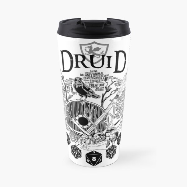 RPG Class Series: Druid - Black Version Travel Mug