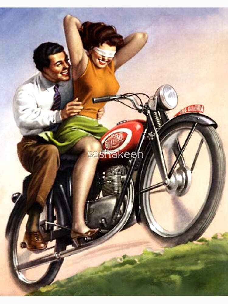 Paseo emocionante de la motocicleta de sashakeen