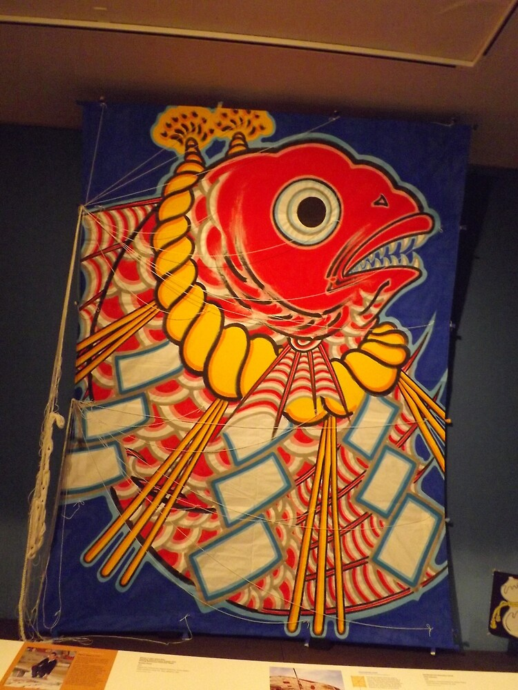 Classic Japanese Kite, Museum of International Folk Art, Santa Fe, New Mexico by lenspiro