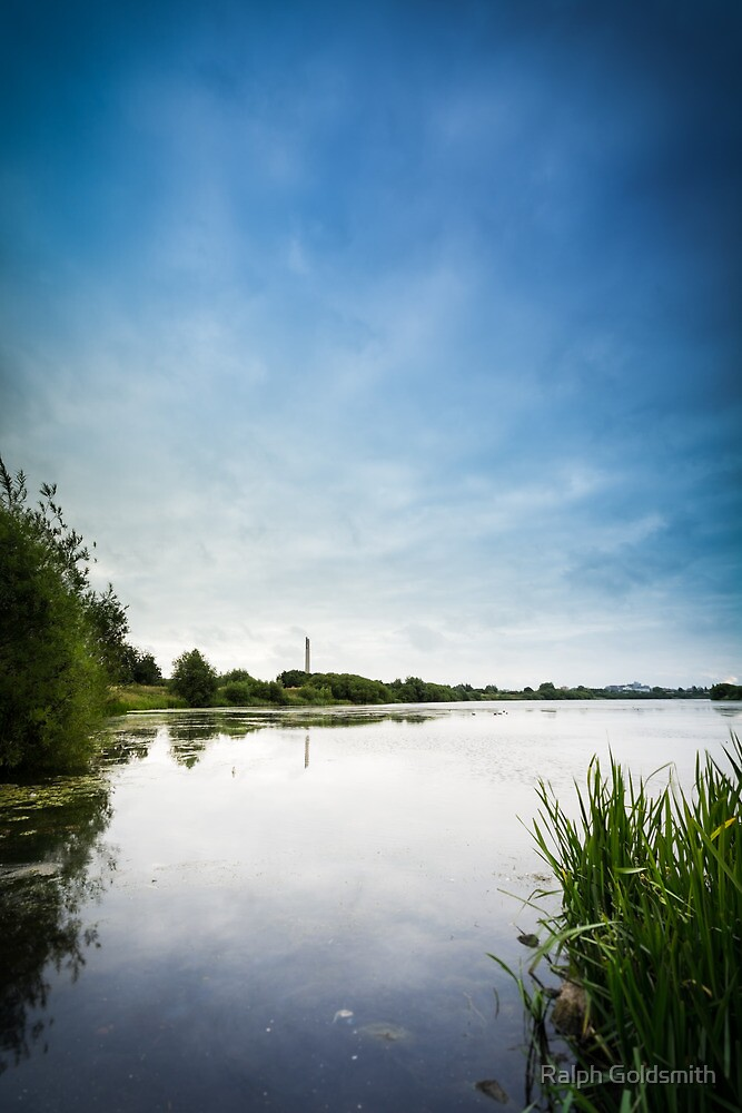 Cloud forming over Duston Mills Reservoir by Ralph Goldsmith