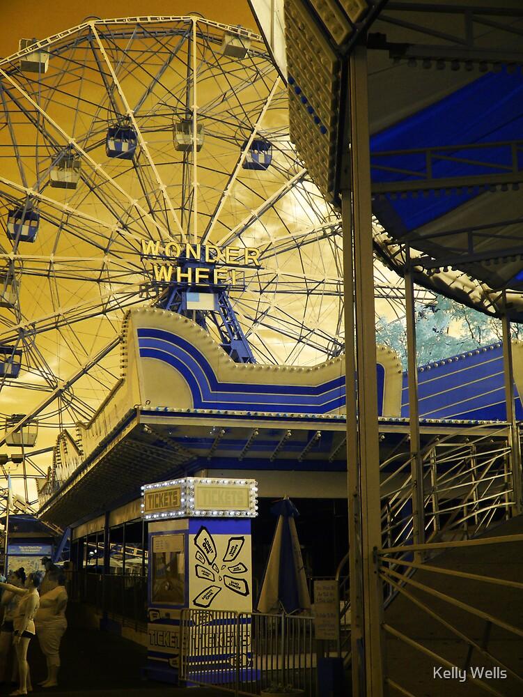 Coney Island Wonder Wheel #3 by Kelly Wells