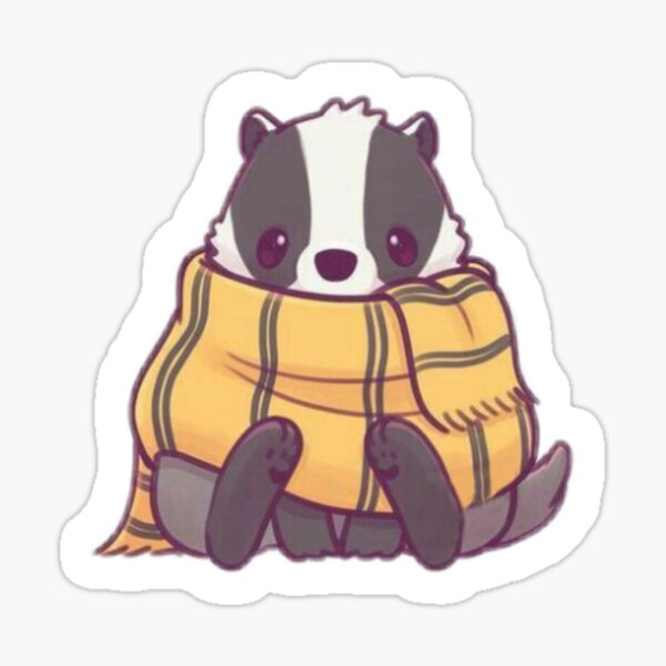 badger with scarf Sticker