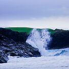 Ocean Spray, Clachtoll Beach by Sue Fallon Photography