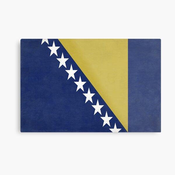 Aufn/äher Patch Bosnien Herzegowina Schrift Fahne Flagge FLAGGENMAE/®