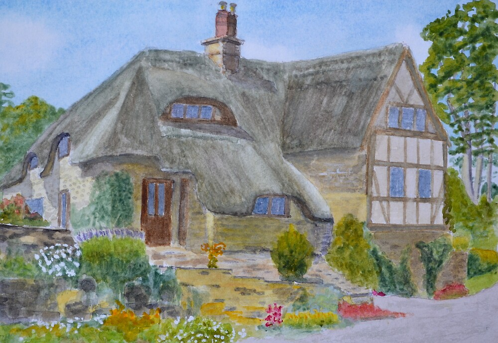 Shropshire Farmhouse by John Rees by HurstPainters