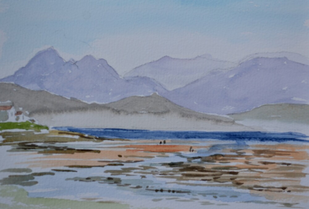 Scottish Loch.  by Janet Holter by HurstPainters