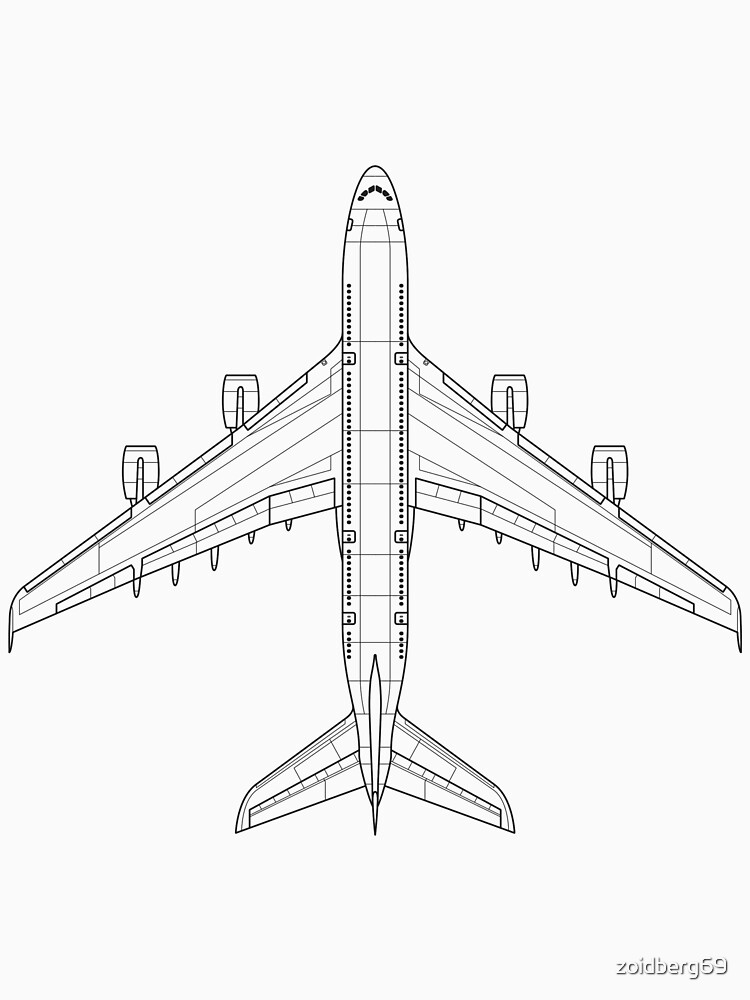 Airbus A380 Blueprint T Shirt By Zoidberg69