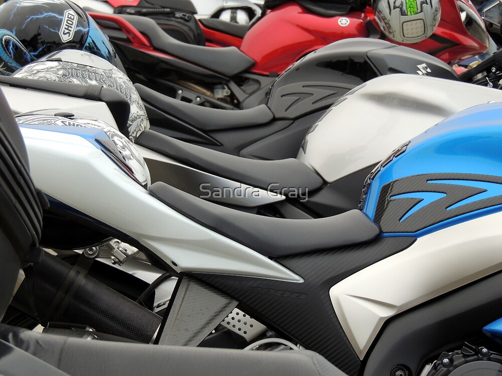 Motorcycle Seats  by Sandra Gray