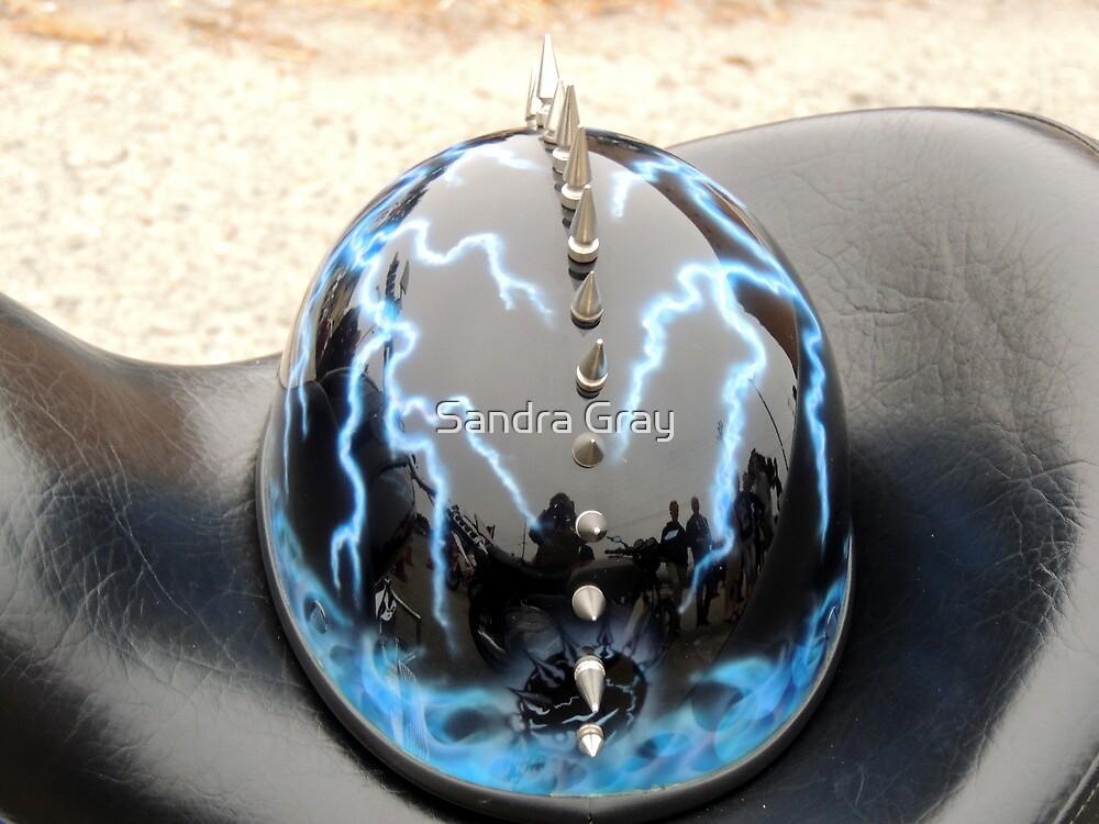 Spiky Lightning Helmet by Sandra Gray