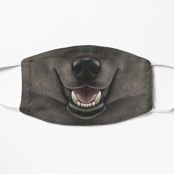 Cara de lobo negro Mascarilla plana