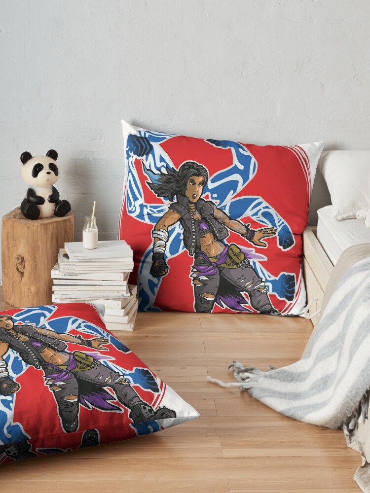 Alternate view of Amara The Siren Borderlands 3 The Tiger of Partali Floor Pillow
