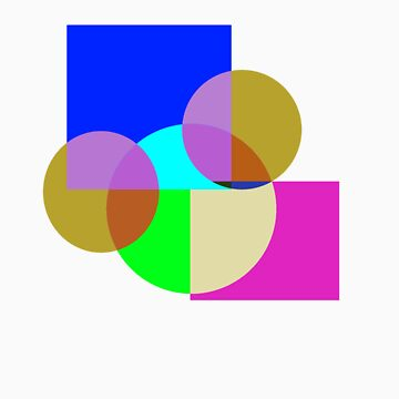 Abstract Overlapping Geometry #1 by M-DB-YA