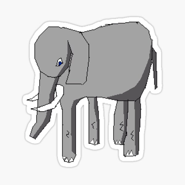 Elephant with blue eyes Sticker