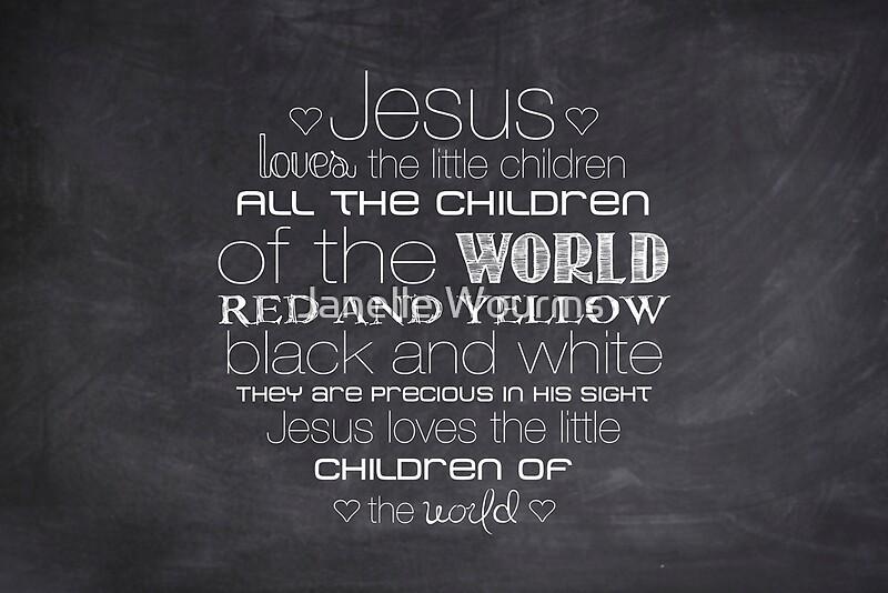 Jesus Loves The Little Children 23 Chalkboard Posters By Janelle Wourms