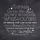 Twinkle Twinkle – 2:3 – Chalkboard  by Janelle Wourms