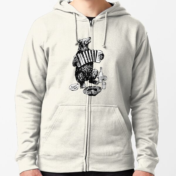 Misha the accordion player Zipped Hoodie
