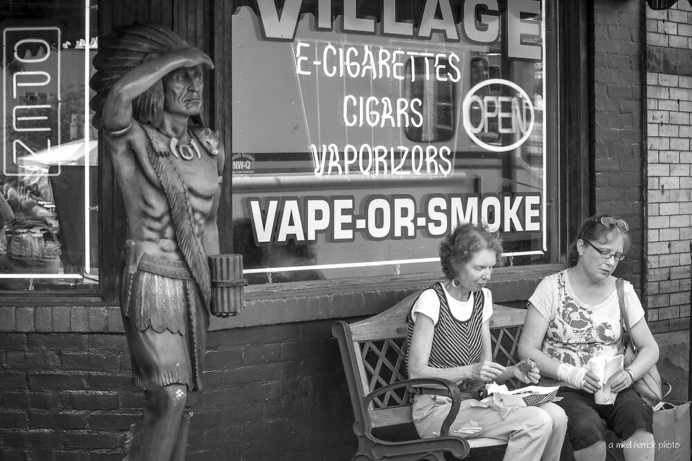 Cigar Store Indian in an E-Smoke World by Mikell Herrick