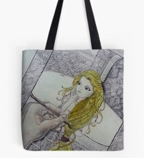 Golden Stair Tote Bag